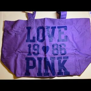 PINK large purple tote NWT